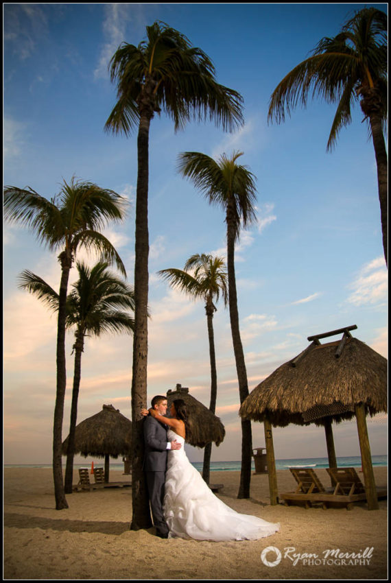 beach wedding formals Sunset
