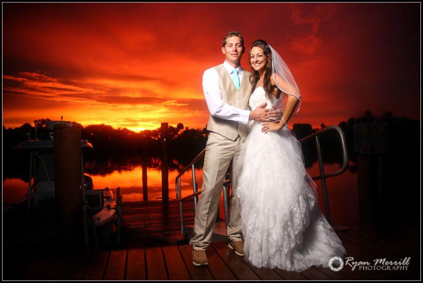 beautiful sunset amazing wedding photos Ryan Merrill Photography