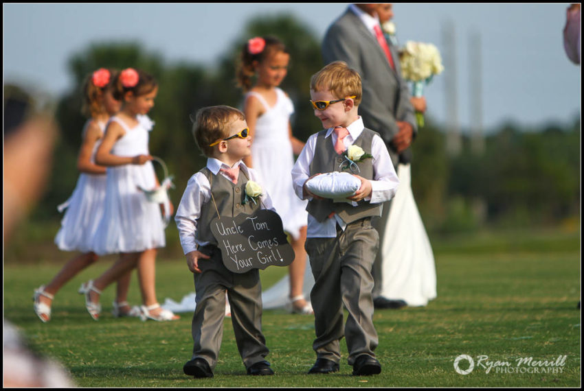 cute ringbearer wedding ceremony