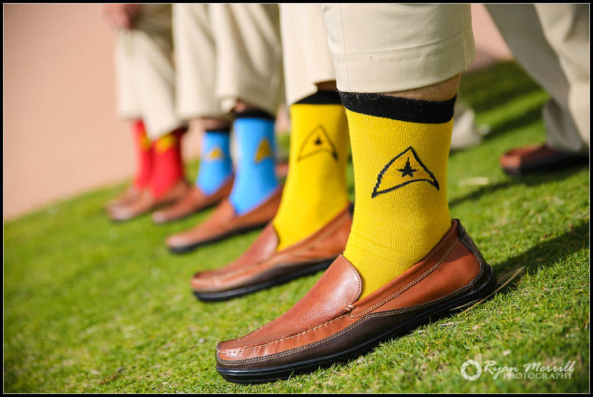 Wedding Star Trek Socks Groomsmen Lake Worth Casino
