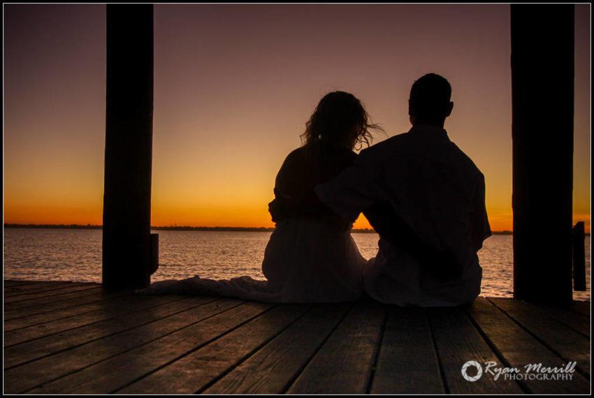 Ocean Silhouette Wedding Formals Jupiter, Fl Dock