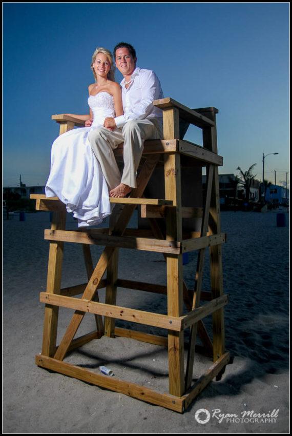 beach wedding lifeguard chair cocoa beach fl