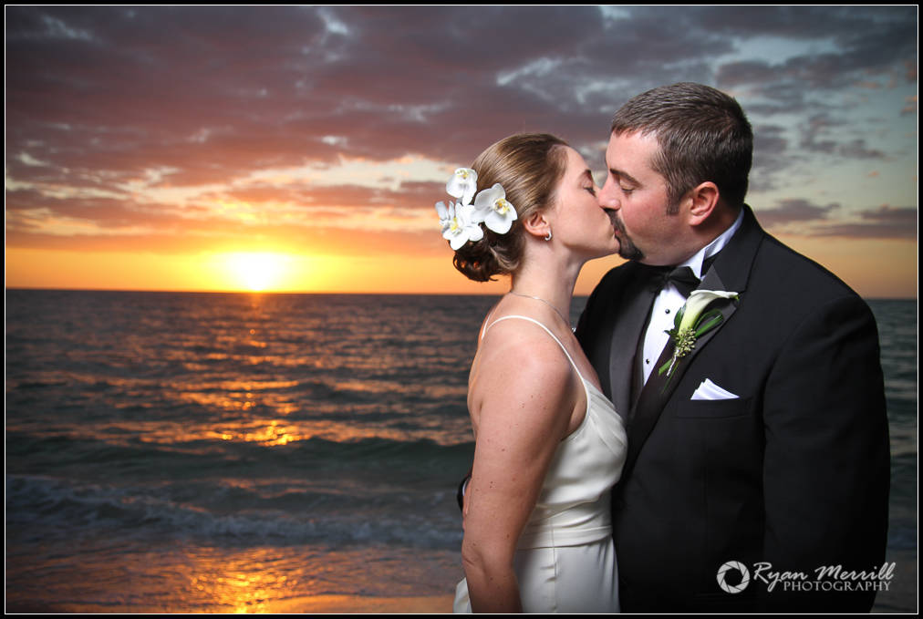 Wedding Beach sunset Bride Groom Formals