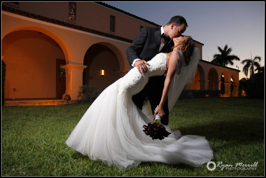wedding formals dip boca raton at sunset