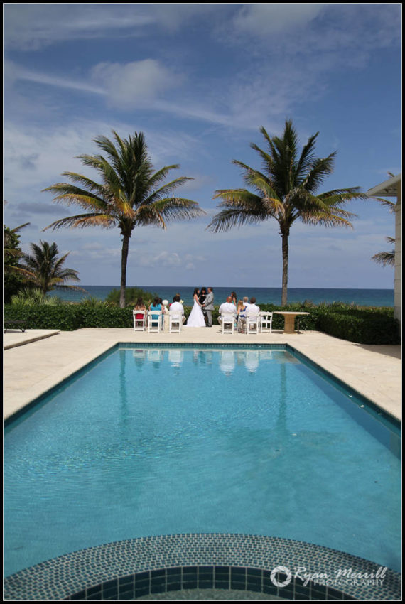 wedding at private residence beach mansion
