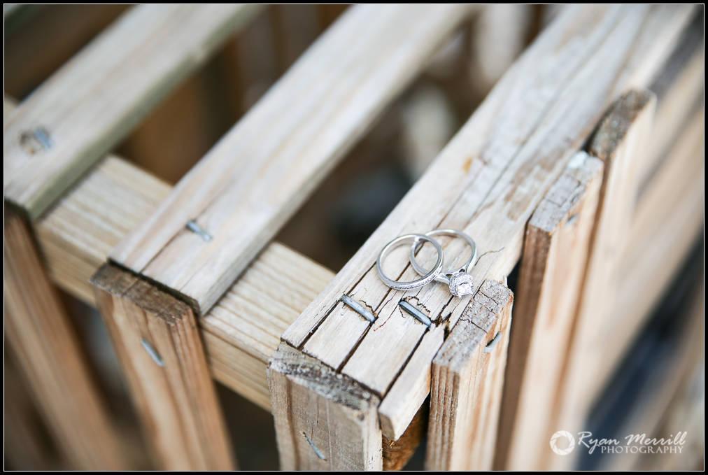 Wedding Rings detail photo rustic wood