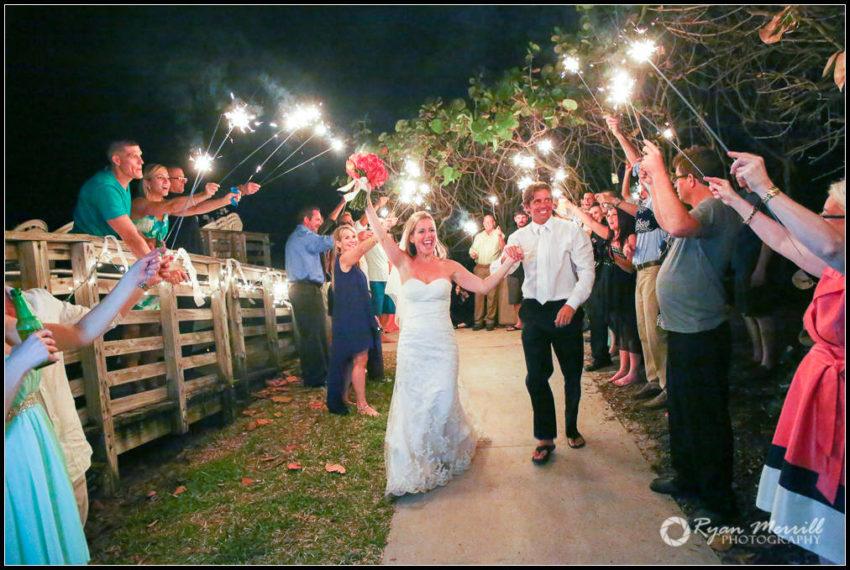 wedding reception sparkler exit jupiter beach resort