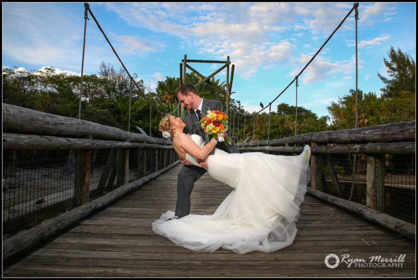 palm beach zoo wedding formal bride animals